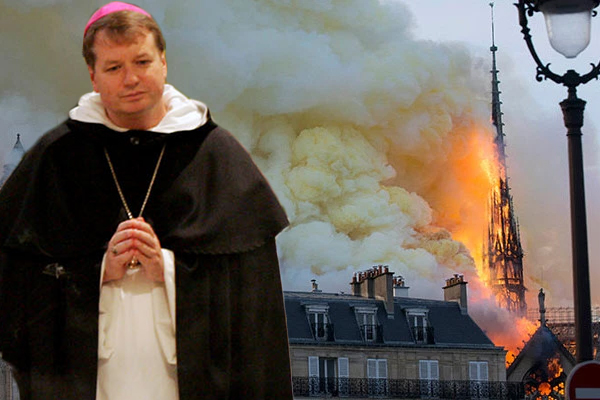 'We won't give in to such evil': Archbishop hints Notre Dame fire may have been deliberate