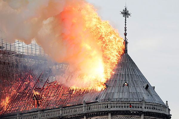 Notre Dame goes up in flames