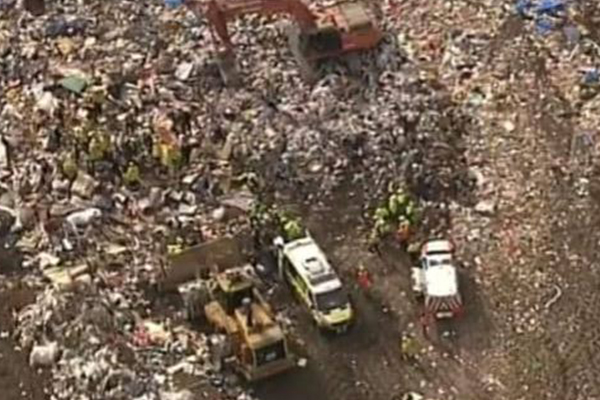 Man dead after being trapped under tonnes of waste