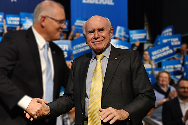 Article image for 'I really do believe': John Howard insists Scott Morrison is 'in with a big chance'