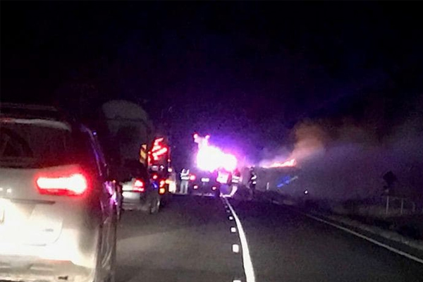 Mum and four children killed in fiery road crash in Queensland overnight