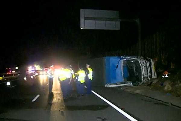 Article image for Major M1 delays after truck driver killed in crash at Asquith