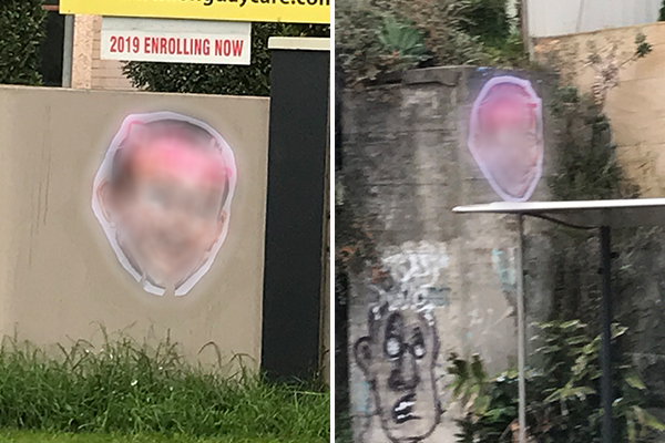 Article image for Police on the hunt for two men involved in vile Tony Abbott posters