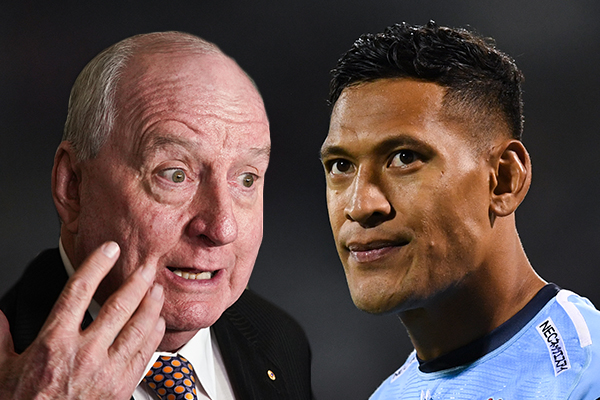 'It's monstrous': Alan Jones slams termination of Israel Folau's contract