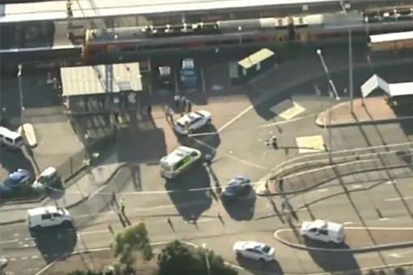 Man shot at Campbelltown Station after threatening police with knife