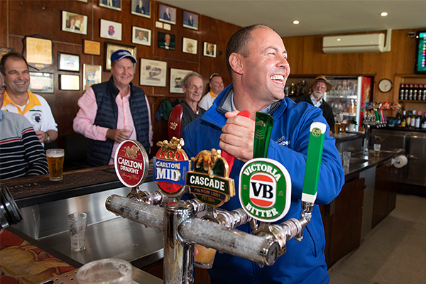 Josh Frydenberg shouts bar to fulfil election promise