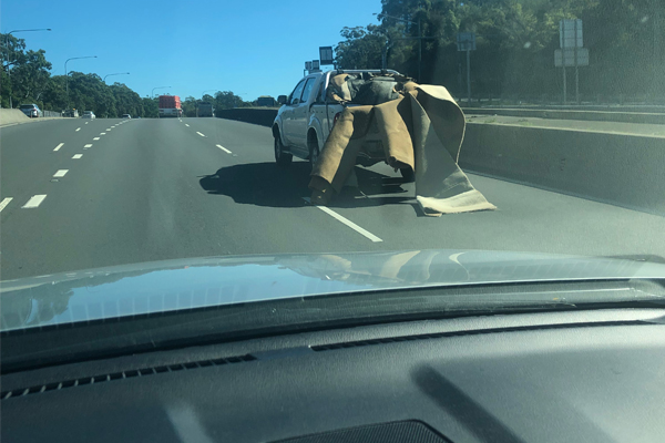 'It could have been carnage': Idiotic ute driver's dangerous load