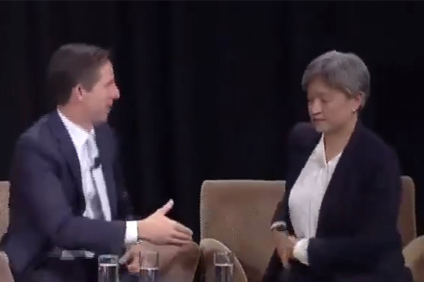 WATCH | Penny Wong refuses to shake Liberal senator's hand