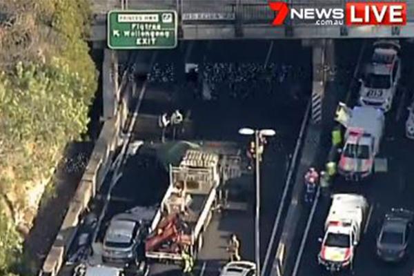 Two dead in fiery multi-vehicle crash