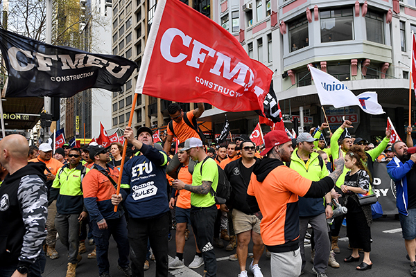 Millions of dollars worth of penalties against CFMMEU