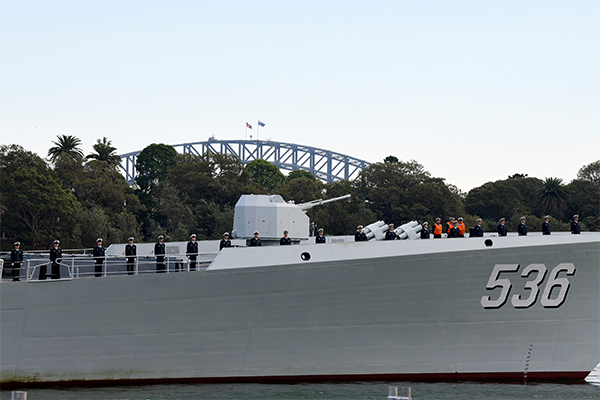 Article image for Chinese warships surprise visit to Sydney Harbour