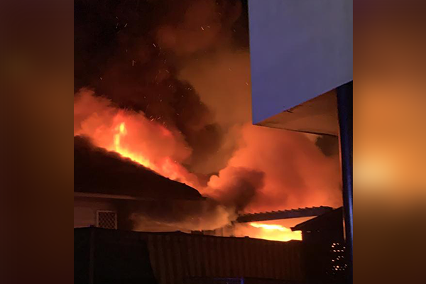 Flames engulf several homes across the city overnight