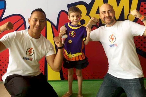 Article image for 'Push further and push harder': Super tees for sick kids