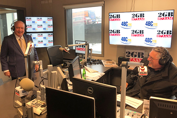 Article image for Alan joins Ray in studio to celebrate 2GB's 15th year at number one