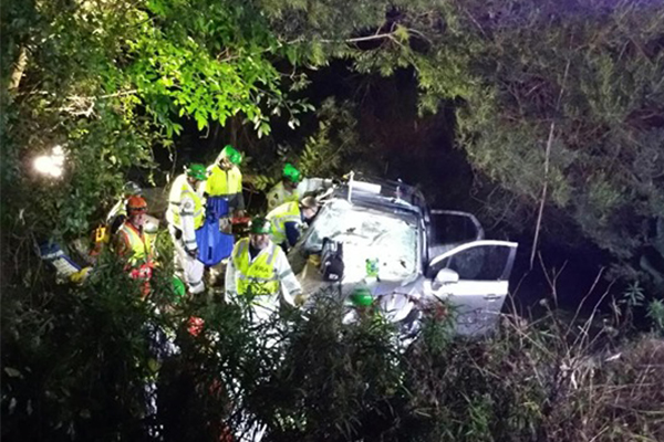 Woman freed after being trapped in car for 17 hours
