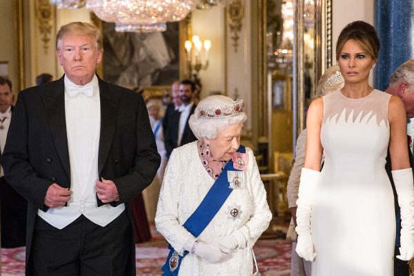 Trump attends Queen's banquet after slamming London's 'nasty' mayor