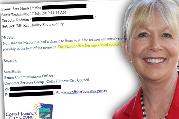Article image for Secret tape catches Mayor in embarrassing gaffe