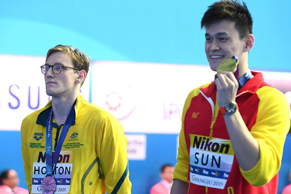 Article image for 'They're going after him': FINA takes action against Mack Horton over podium protest