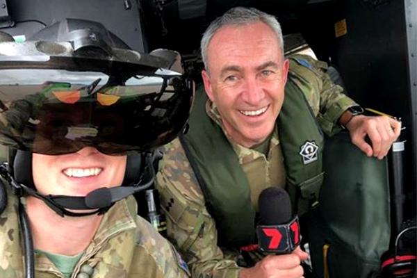 TV sports reporter Captain Mark Beretta's new job title