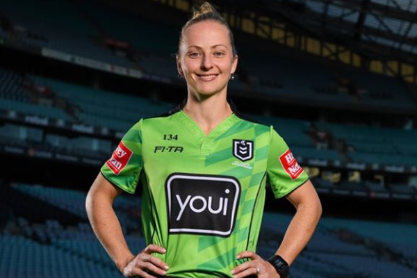 Article image for NRL's first female referee ready to make history