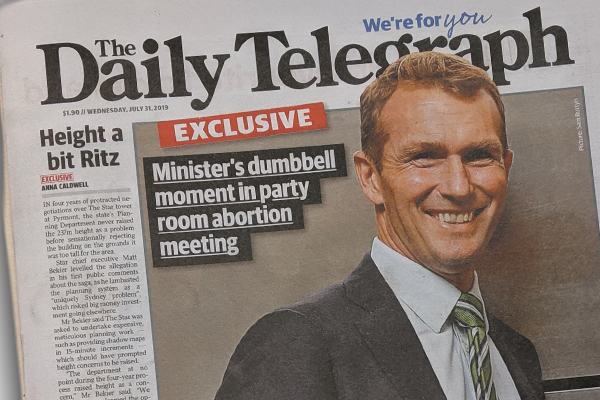 Article image for 'I'm horrified': Minister apologises for abortion debate joke