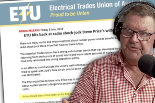 Article image for Steve Price responds to union's baseless and defamatory media release about him