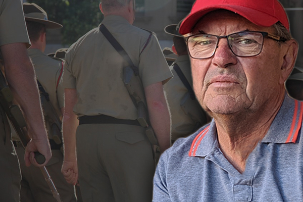 Article image for 'When are we going to look after our own': Veteran breaks down on-air