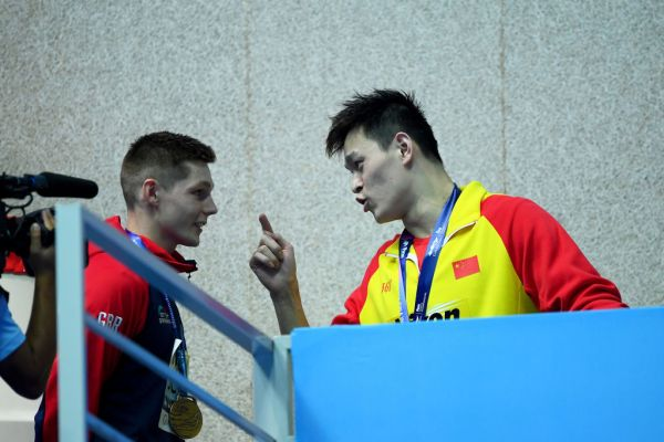 'You loser!': Sun Yang explodes at British swimmer after another protest