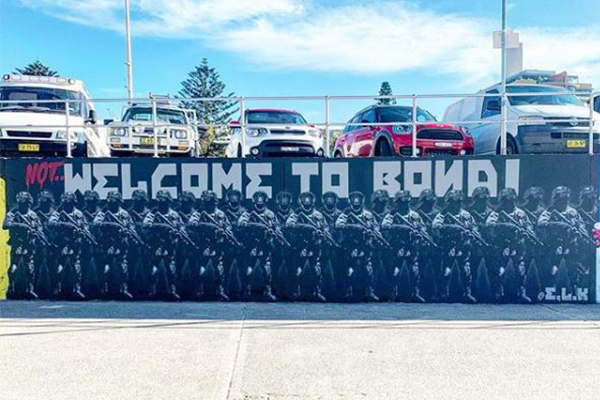 Article image for Controversial Bondi Beach mural vandalised