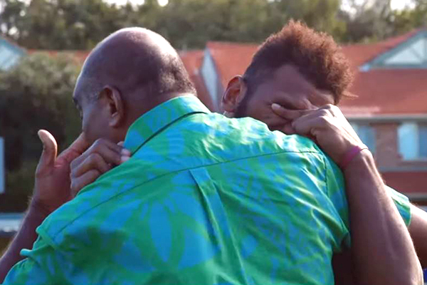 Rugby League player's Father's Day surprise