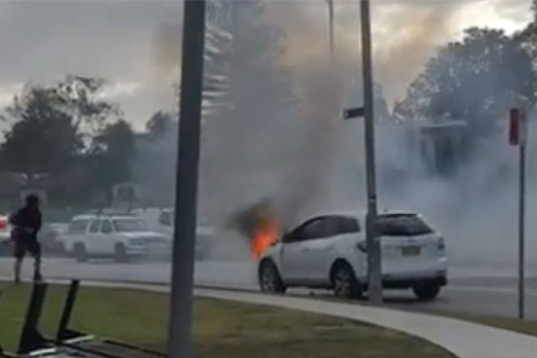 Article image for WATCH | Car bursts into flames in Sydney's south