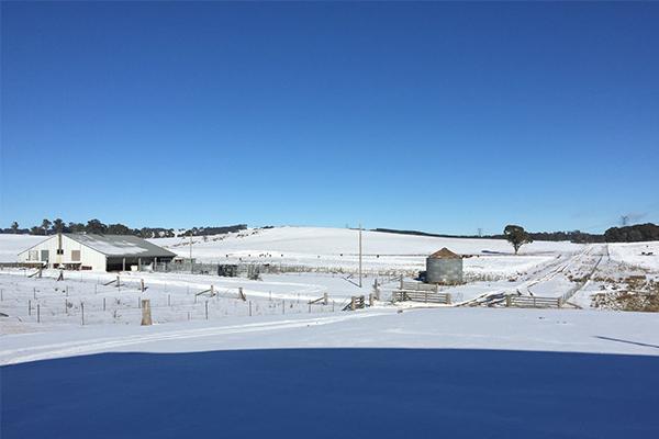 Snow blankets Oberon