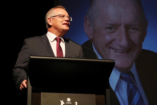 Article image for 'Just a beautiful man': Scott Morrison pays tribute to dear friend Tim Fischer