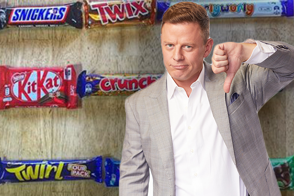 Ben Fordham's fiery clash over 'dud list' of the best chocolate bars