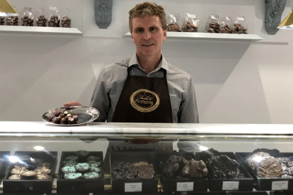 Paralympian breaks down on-air after having to shut his chocolate shop