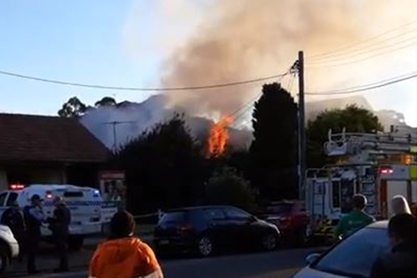 Sydney house engulfed in flames