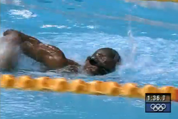 Article image for Ray reflects on witnessing 'Eric the Eel' swim the slowest race in Olympic history