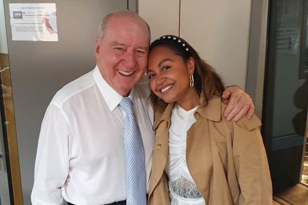 Jessica Mauboy holds back tears in candid interview with Alan Jones