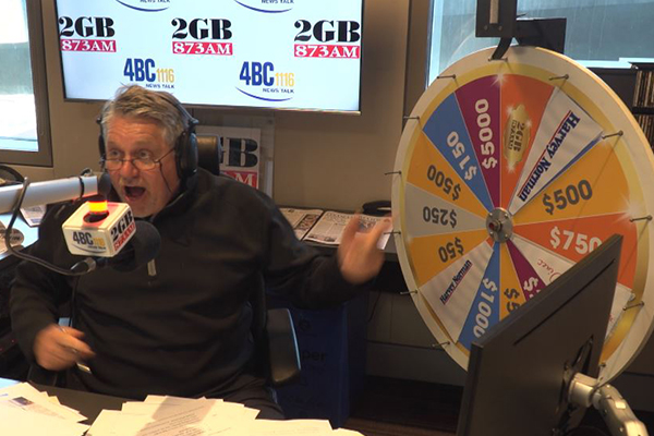 WATCH | Proof Ray Hadley didn't cheat as Spin to Win grand prize goes off
