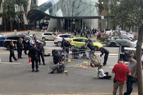 Article image for 'Selfish' climate protesters shutdown Brisbane CBD once again