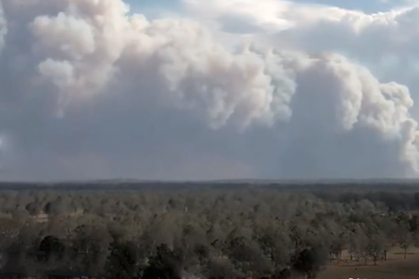 30 homes feared lost as bushfires rage across northern NSW