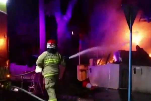 Arsonist on the run after lighting five separate fires overnight