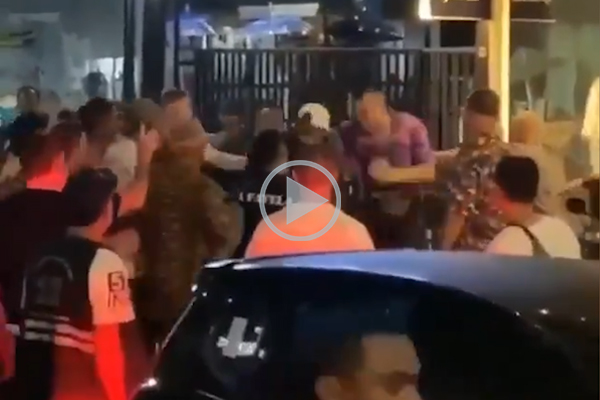 Article image for WATCH   NRL star caught on camera in Bali street fight
