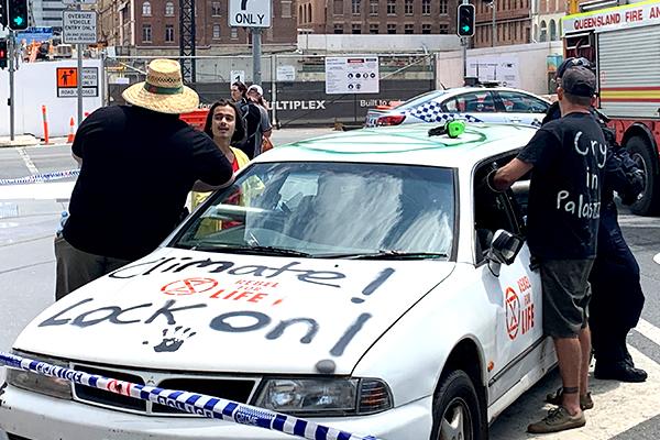 Article image for Extinction Rebellion says public disruption won't stop until demands met