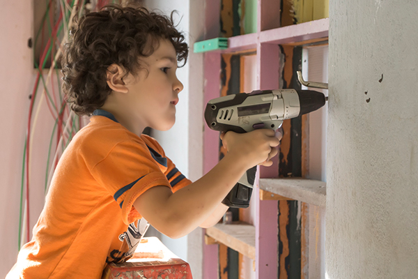 Little Tradies: Children being taught the tricks of the trade