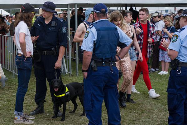 Police Association defends officers' presence at music festivals