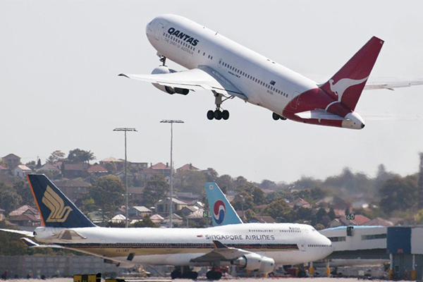 Multiple flights cancelled at Sydney Airport due to strong winds