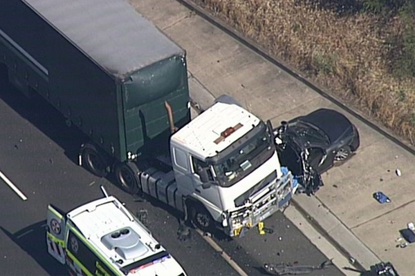 Article image for Truck driver charged over horror M5 pile-up that killed 10yo boy
