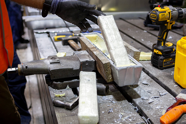 AFP busts 233kg of cocaine concealed in aluminium bars from Mexico