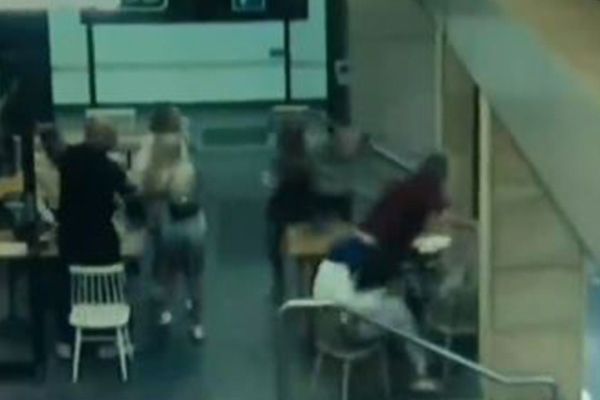 Heavily pregnant woman bashed and stomped on by stranger